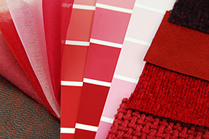 Fabric choices by color, shade, and texture
