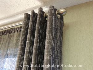 Chrome Grommet Drapes